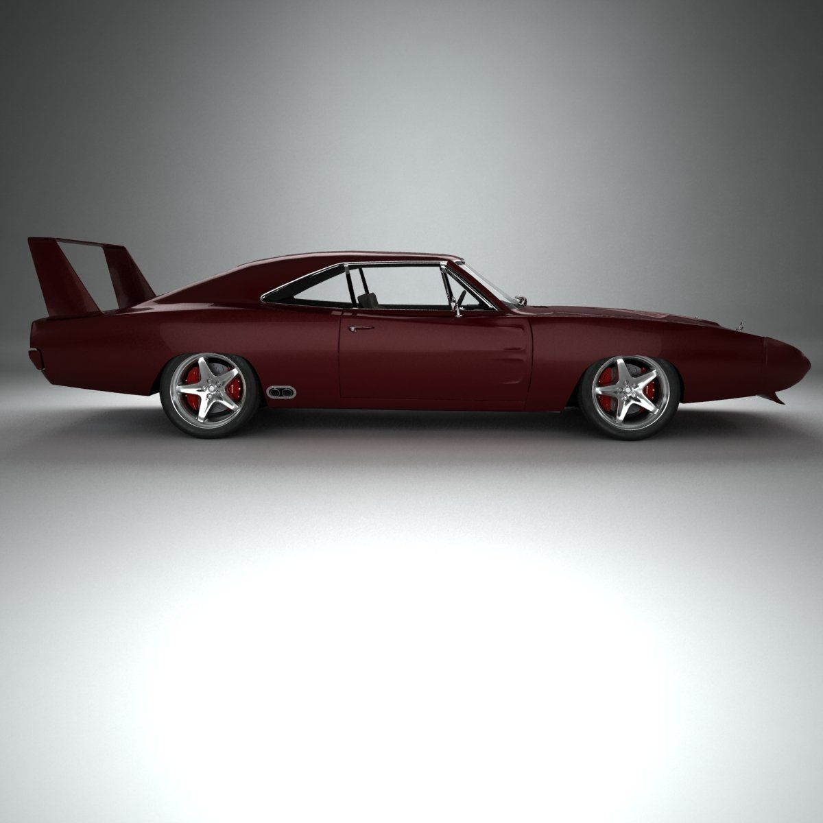 Royalty free dodge charger daytona hemi 1969 3d model by rendersteel available formats