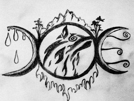 triple moon goddess symbol tattoo google search tattoos pinterest symbols tattoos. Black Bedroom Furniture Sets. Home Design Ideas