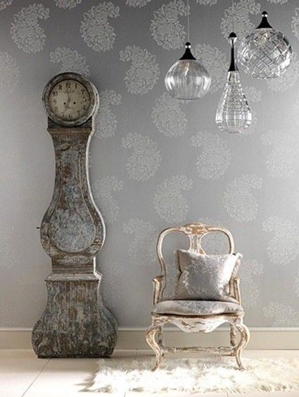 Eclecticrevisited Files WordPress 2010 11 Chairclockinteriorinteriordesign Gustavian French Gray Blue Eclectic Vintage Home Decor Room Ideas1 Jpg