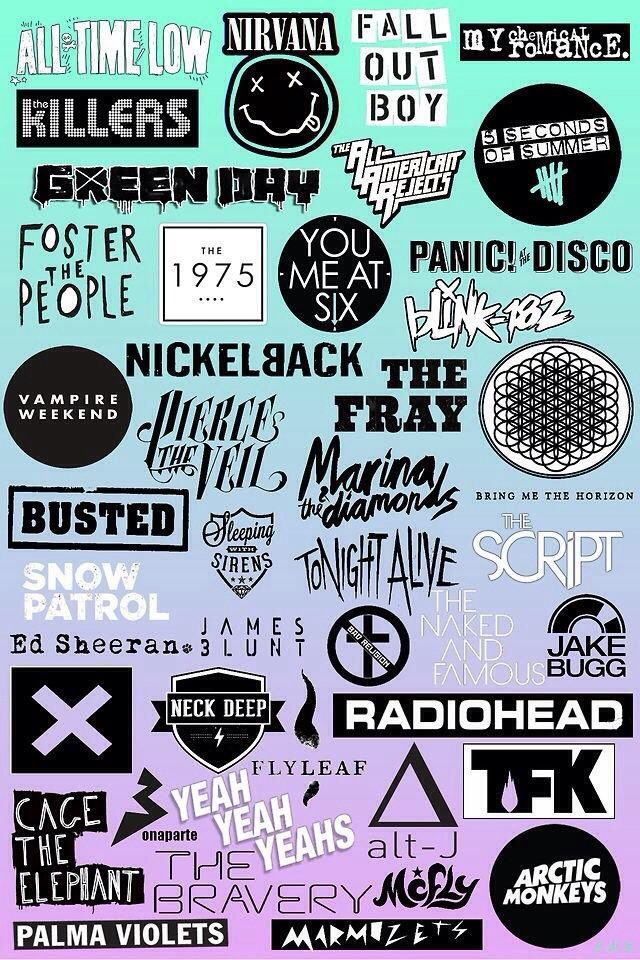 Pin By Rossanne On Music Things Music Stickers Band Wallpapers Band Posters