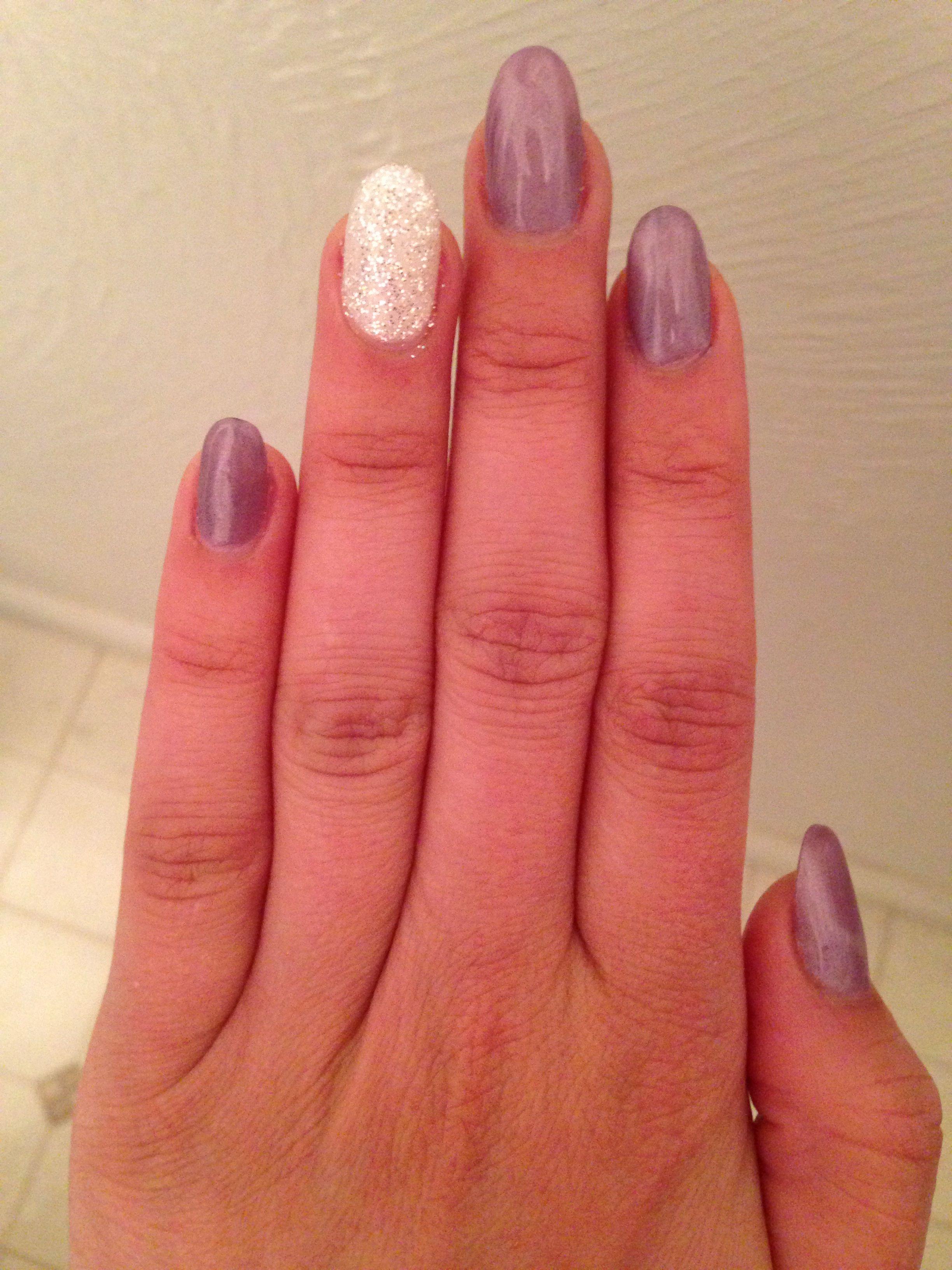 Lavender and diamond gel by DeeDee   Nail Art   Pinterest