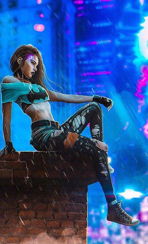 lee gough 🐝 в Твиттере «Cyberpunk Batgirl Thor https