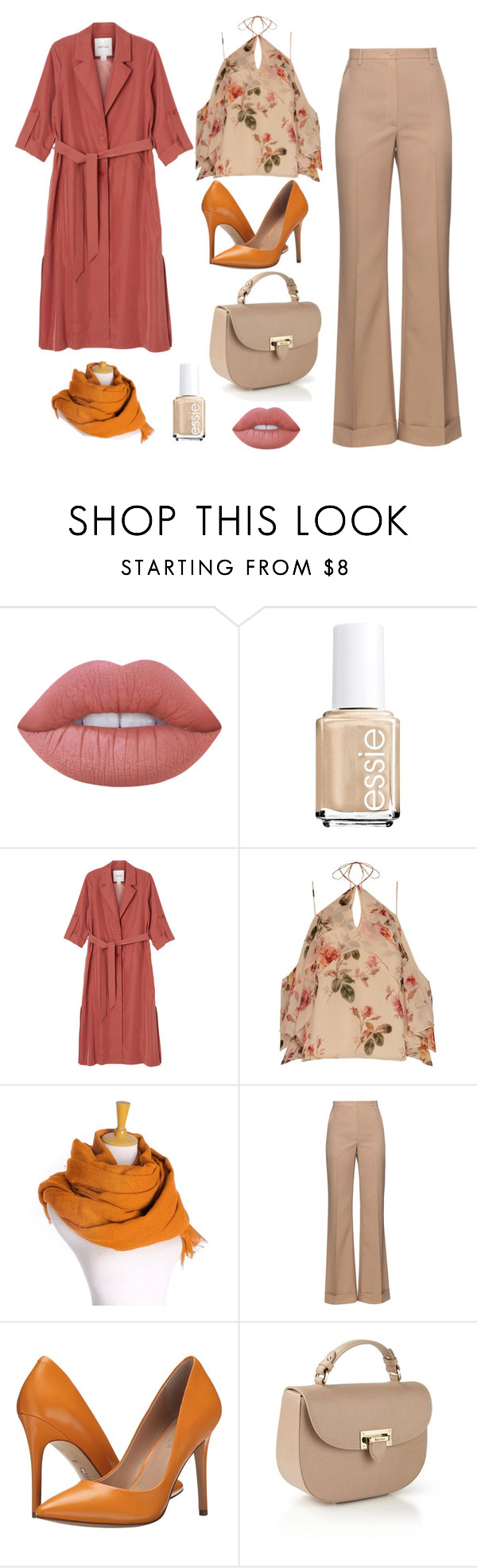 """""""Untitled #38"""" by sousou2578 on Polyvore featuring Lime Crime, Essie, Monki, Exclusive for Intermix, Nina Ricci, Charles by Charles David and Aspinal of London"""