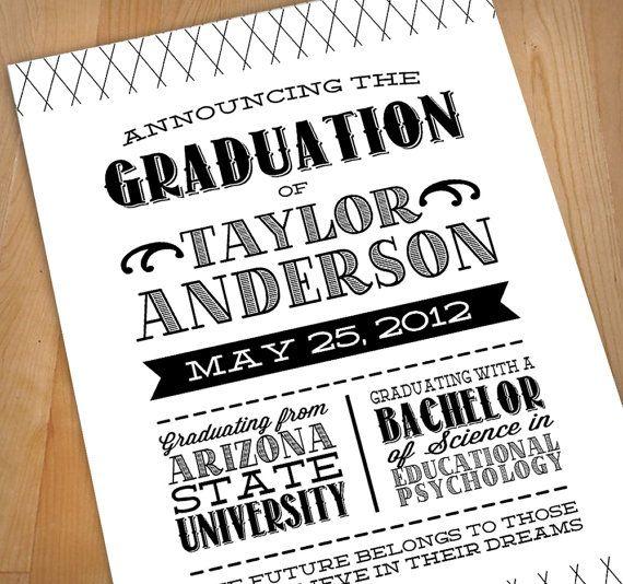 17 Best images about Graduation Announcement on Pinterest ...