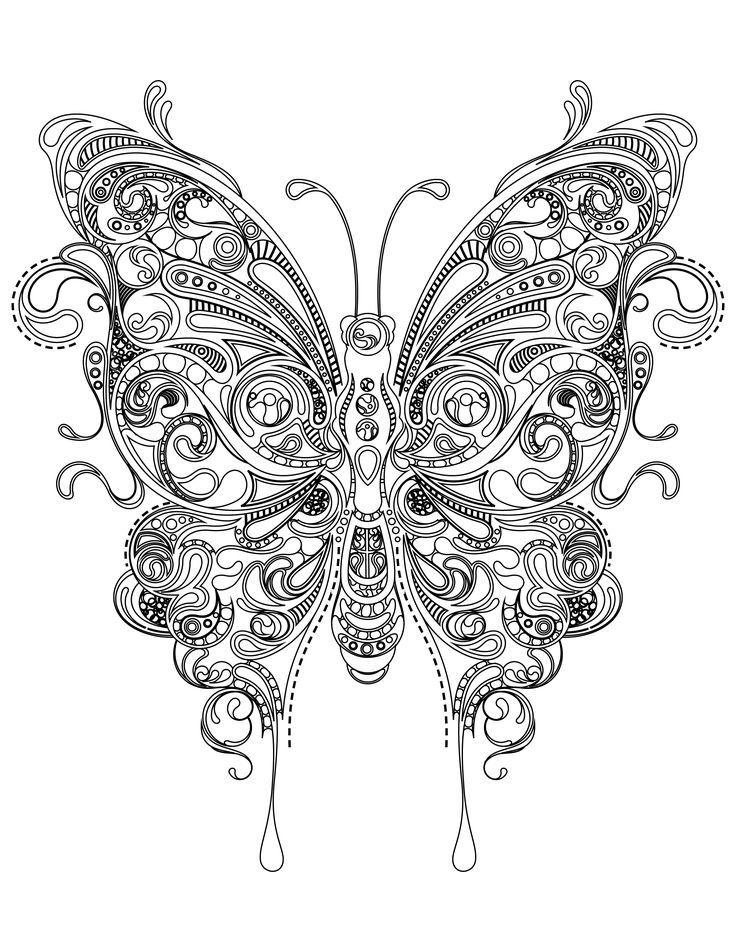 Enchanting Coloriage Superbes Mandalas Soleil Et Papillons Pictures ...