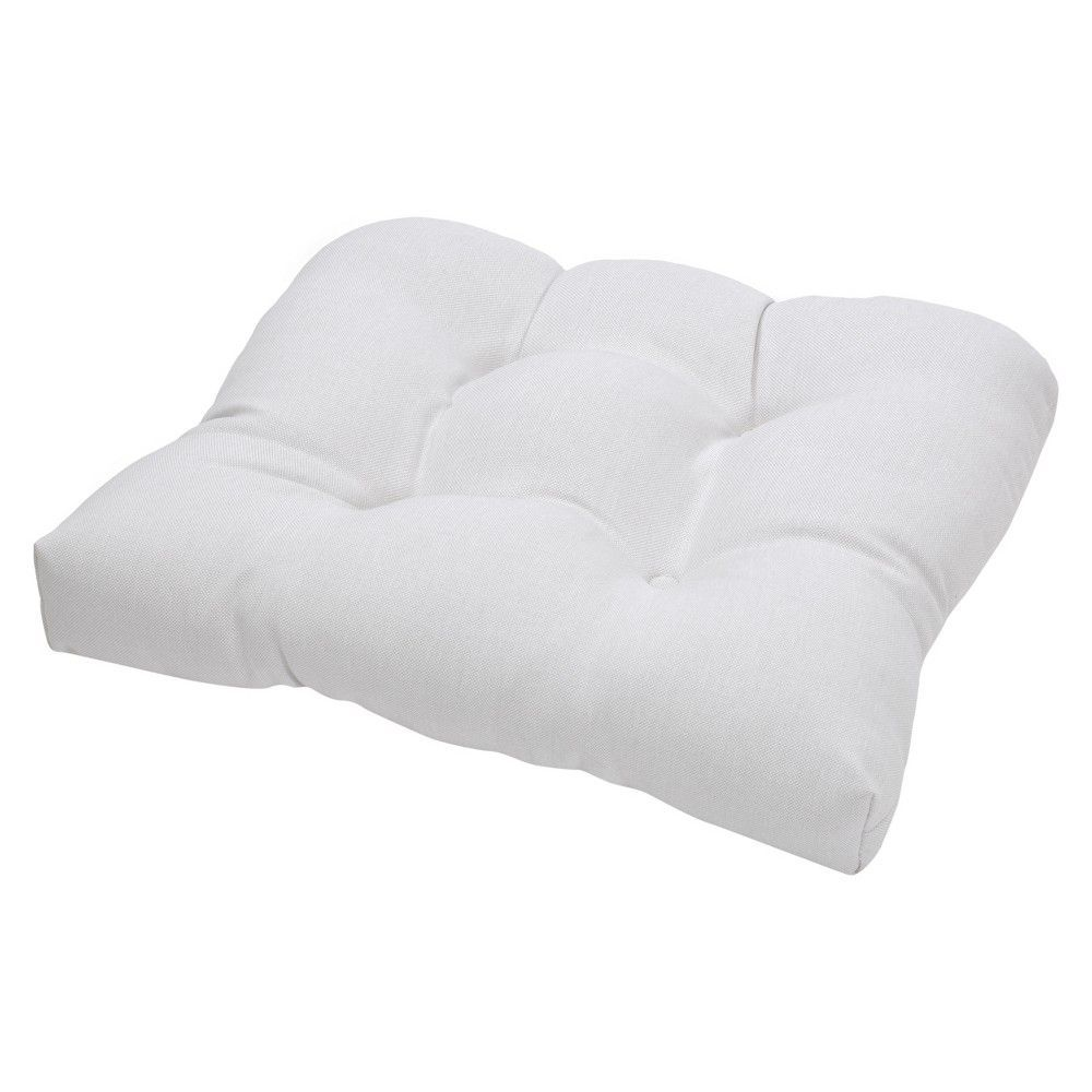 Tufted seat cushion linen threshold products