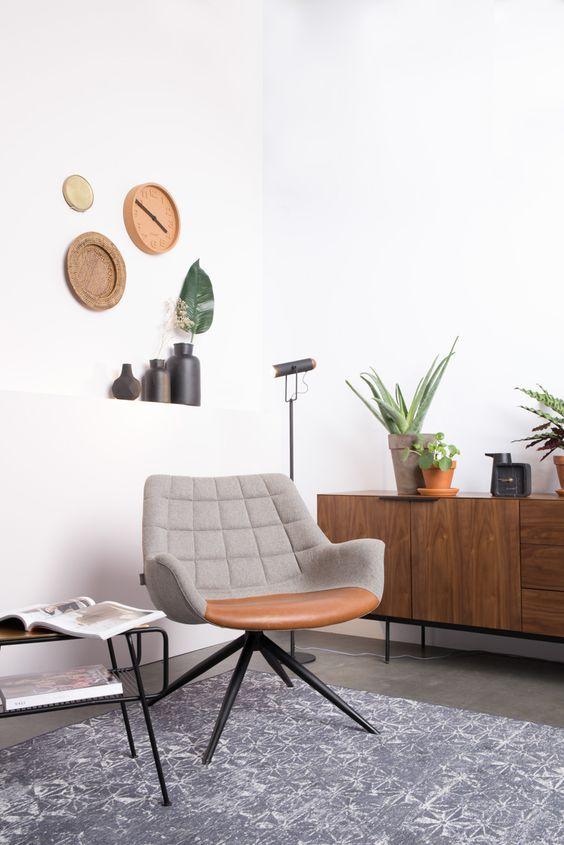 Intérieur design et confortable avec le fauteuil de la marque Zuiver ...
