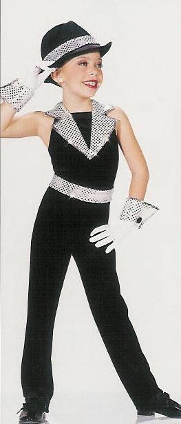 26ebaad61 JAZZY Tux Jazz Tuxedo Tap Dance Costume w Cuffs CS   CL
