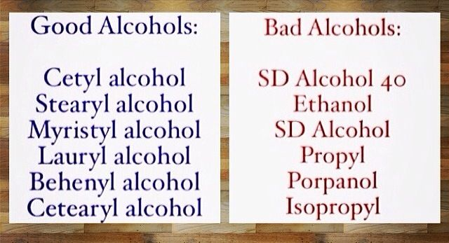 GOOD VS BAD ALCOHOL FOR YOUR NATURAL HAIR PRODUCTS