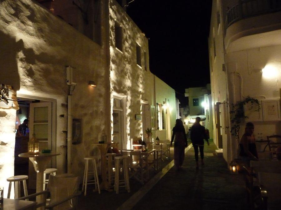 Naoussa at night