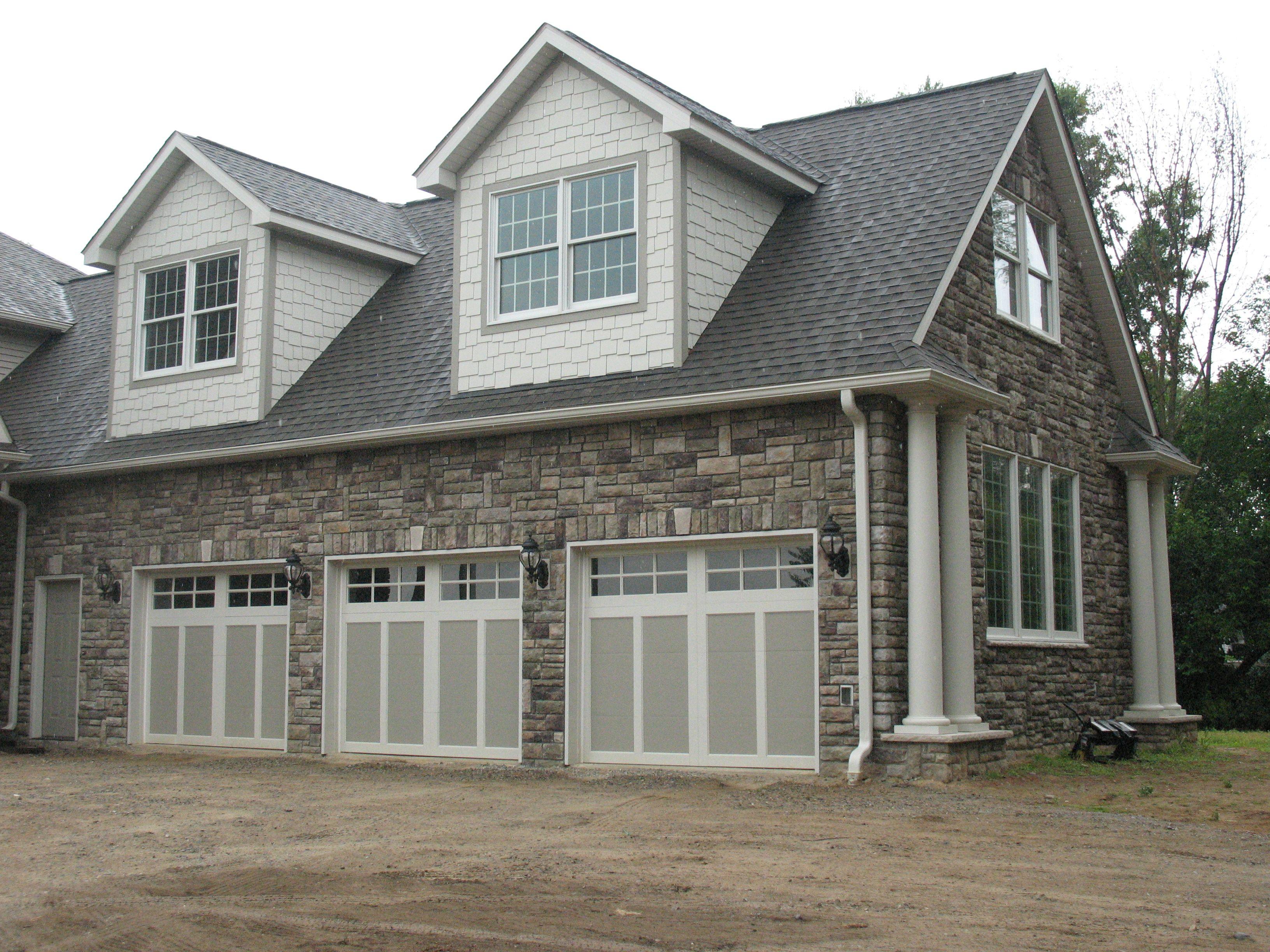 Garage Done In Bucks County Limestone From Boral Cultured Stone