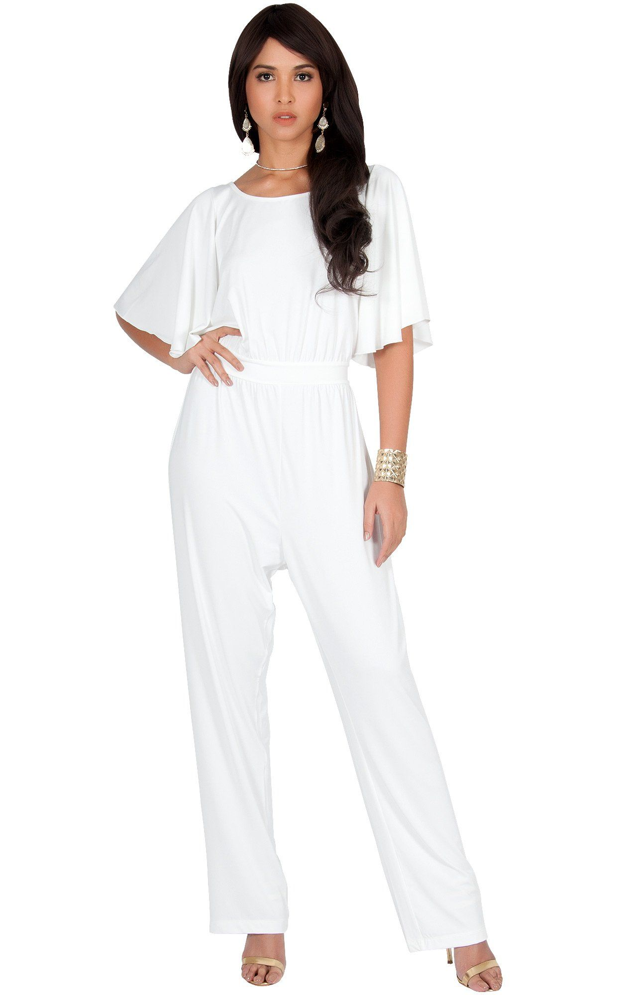 26cf8b8a9af2 KOH KOH Plus Size Women Short Sleeve Wide Leg Long Casual Cocktail Pants  One Piece Jumpsuit Jumpsuits Pant Suit Suits Romper Rompers Playsuit  Playsuits ...