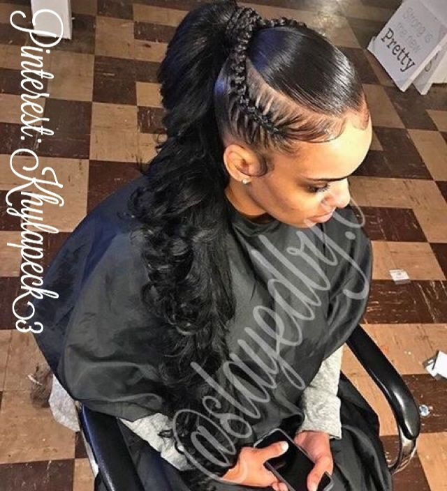 Follow Llil Jayy For More Lit Pins Weave Ponytail Hairstyles Ponytail Styles Hair