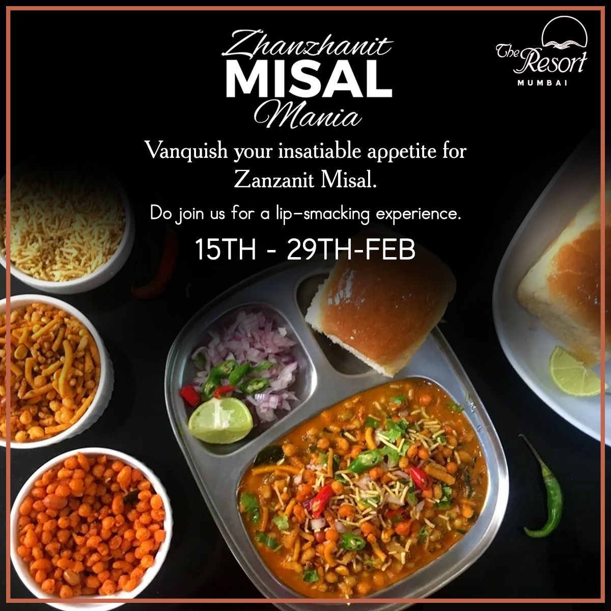 Get ready to satiate your taste buds with our chef's special Zanzanit misal exclusively at The Resort.  Visit us at www.theresortmumbai.com  #TheResort #BeachResort #MumbaiResort #LuxuryResorts #FoodResort #Zanzanit #MisalPav #Misal #ZanzanitMisalMania #Spicy #MaharashtrianDelicacy #MaharashtrianRecipe #Maharashtrafood #FoodLover #MisalLover #Misalpavlover #MisalFest #MisalMania #MumbaiFoodie #Foodie #InstaFoodie #SpicyFoodLover
