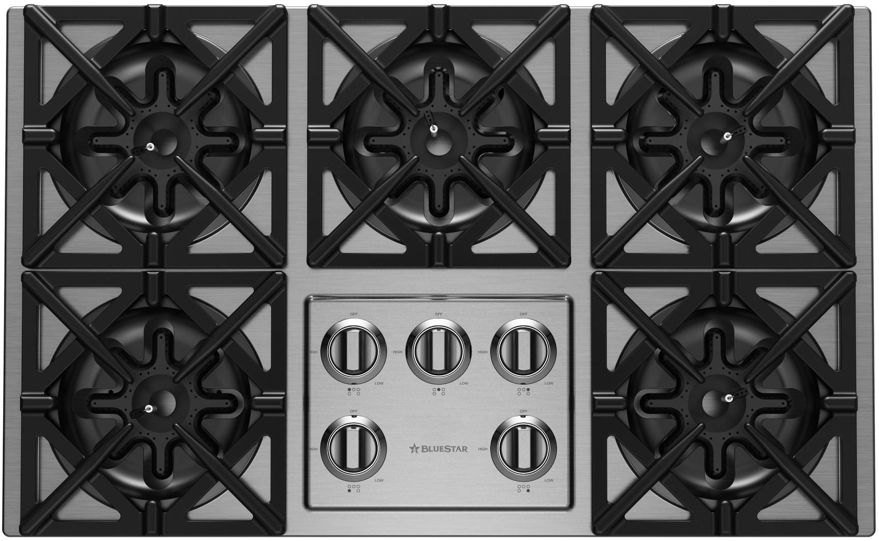 Bluestar 36 Liquid Propane Drop In Cooktop Stainless Steel Rbct365bssv2lp Gas Cooktop Cooktop Kitchen Design Decor