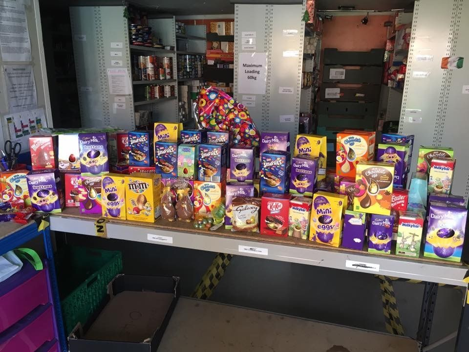 Charitable children donated nearly 100 Easter Eggs to a