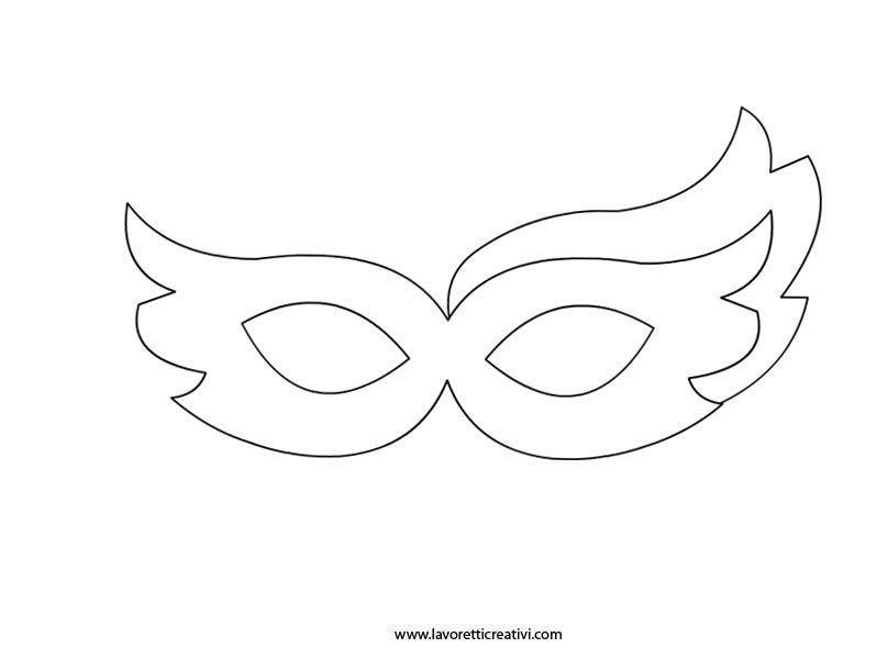 Maschere carnevale da colorare karneval pinterest for Mascherina carnevale da colorare