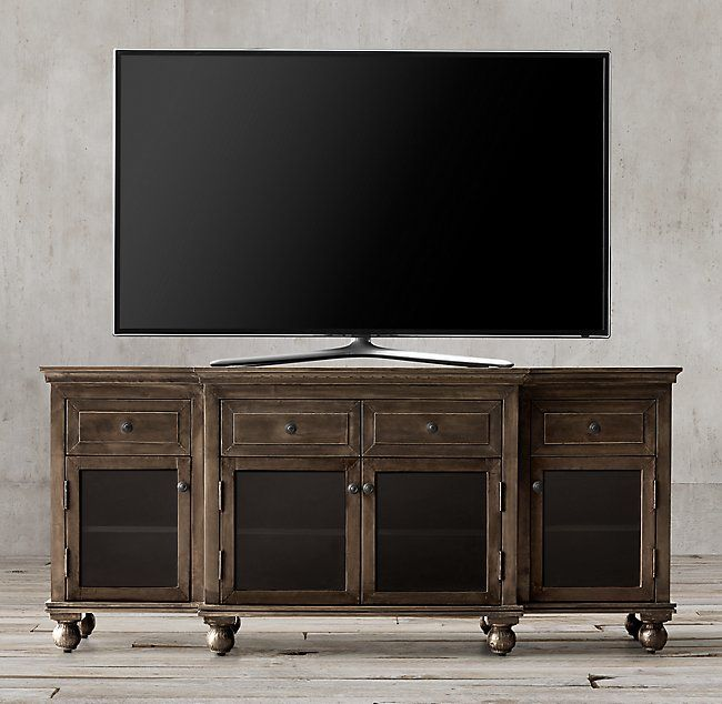 Annecy Metal-Wrapped Glass 68 Media Console