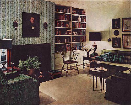 1961 Mid Century Modern Colonial Living Room The Texture And Color In This Living Room Are Mid Century Colonial Living Room Colonial Style Cool House Designs