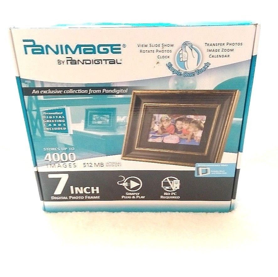 Details About Digital Photo Frame Panimage By Pandigital 7 Inch