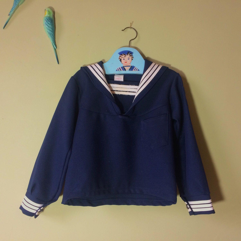 60s navy blue jacket sailor collar. Navy Blue Crochet Vintage Jacket Large Crochet Blazer Jacket sailor collar