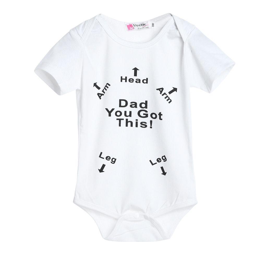 Happy Weekend Newborn Baby Short Sleeve Romper Infant Summer Clothing