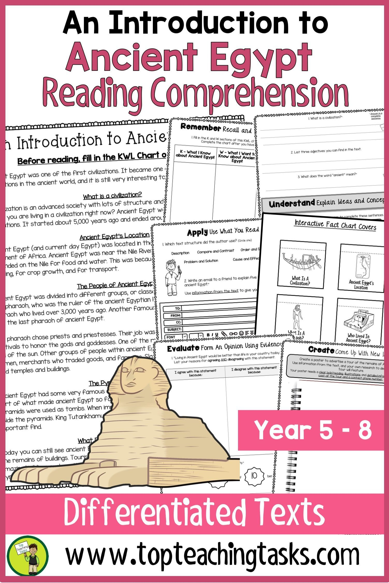 Ancient Egypt Reading Comprehension Passages And
