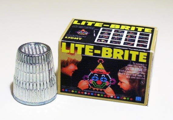 Lite Brite Toy Box - Dollhouse Miniature - 1:12 scale - Dollhouse Accessory - 1970s 1980s Dollhouse Lite Brite - Miniature toy box replica #dollhouseaccessories
