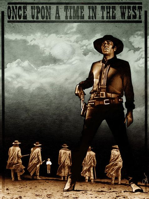 Once Upon A Time In The West By Emmanuel Bazin Cartazes De