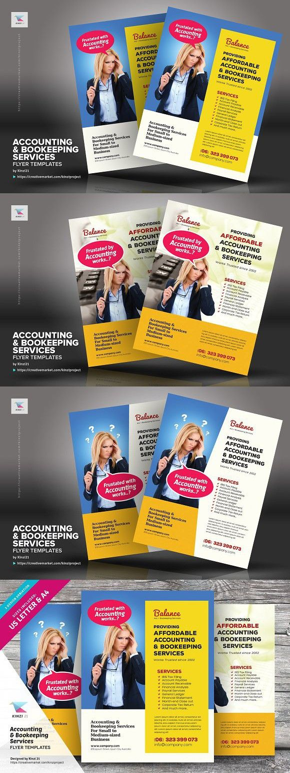 accounting bookkeeping flyers bookkeeping services flyer design flyer template flyers