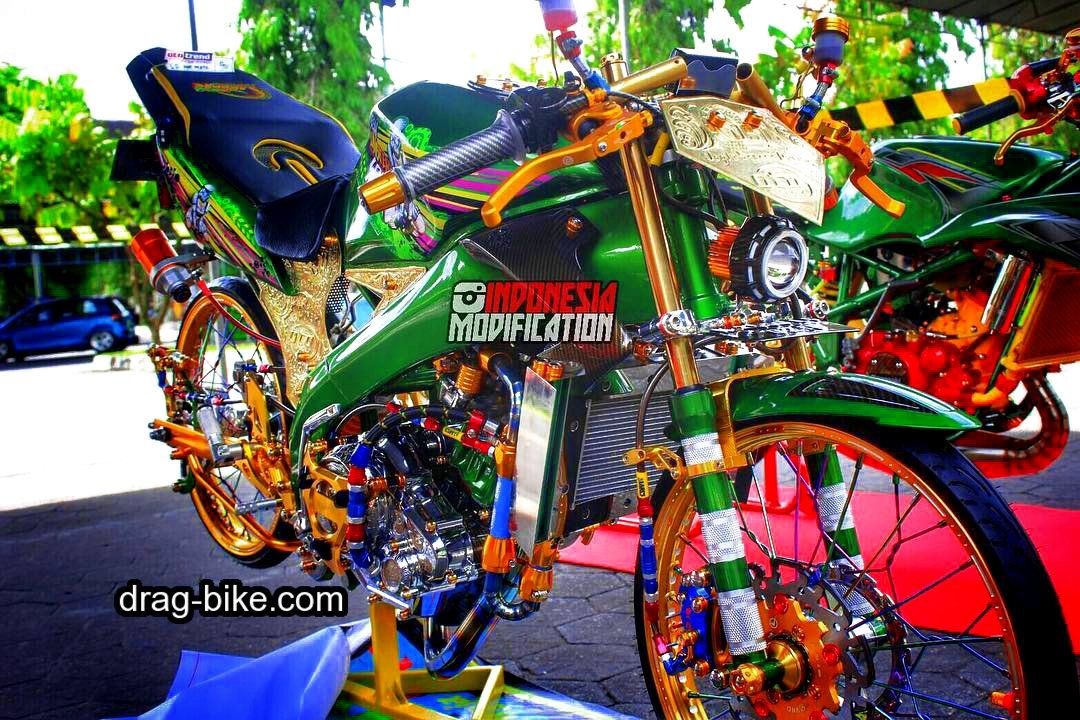 Modifikasi Motor Balap Vixion Street Racing Thailook Style Motor