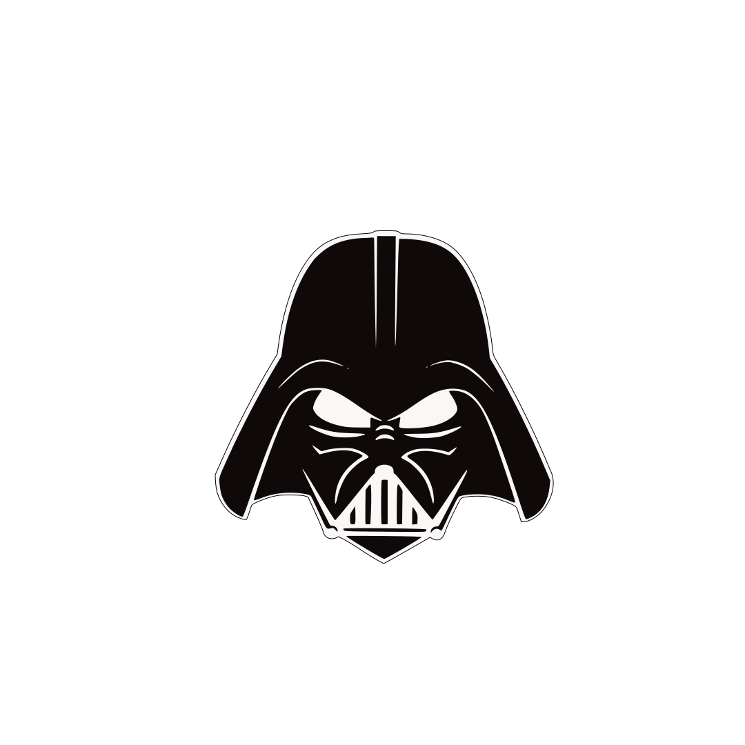 Darth Vader Head 2 layers.svg File Shared from Box