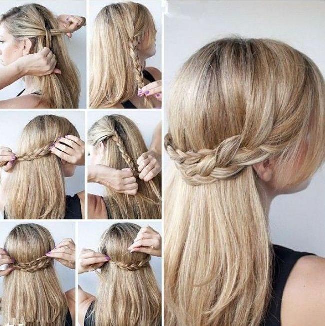 Nette einfache Upddos für langes Haar wie man es sich 2018 tut — Alles für die besten Frisuren