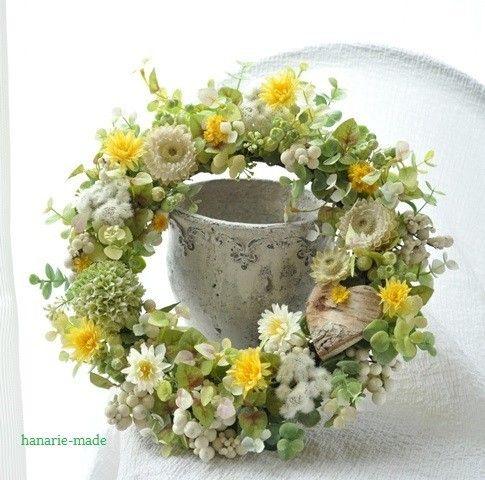ひなぎく と しらかばハート♡ : wreath - はなりえmade