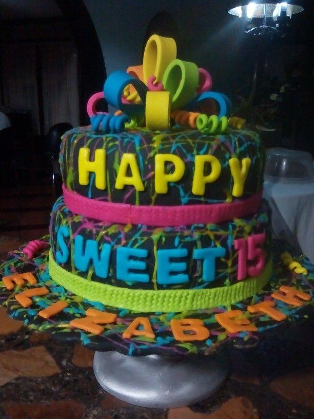 Cake Neón / Torta fosforescente