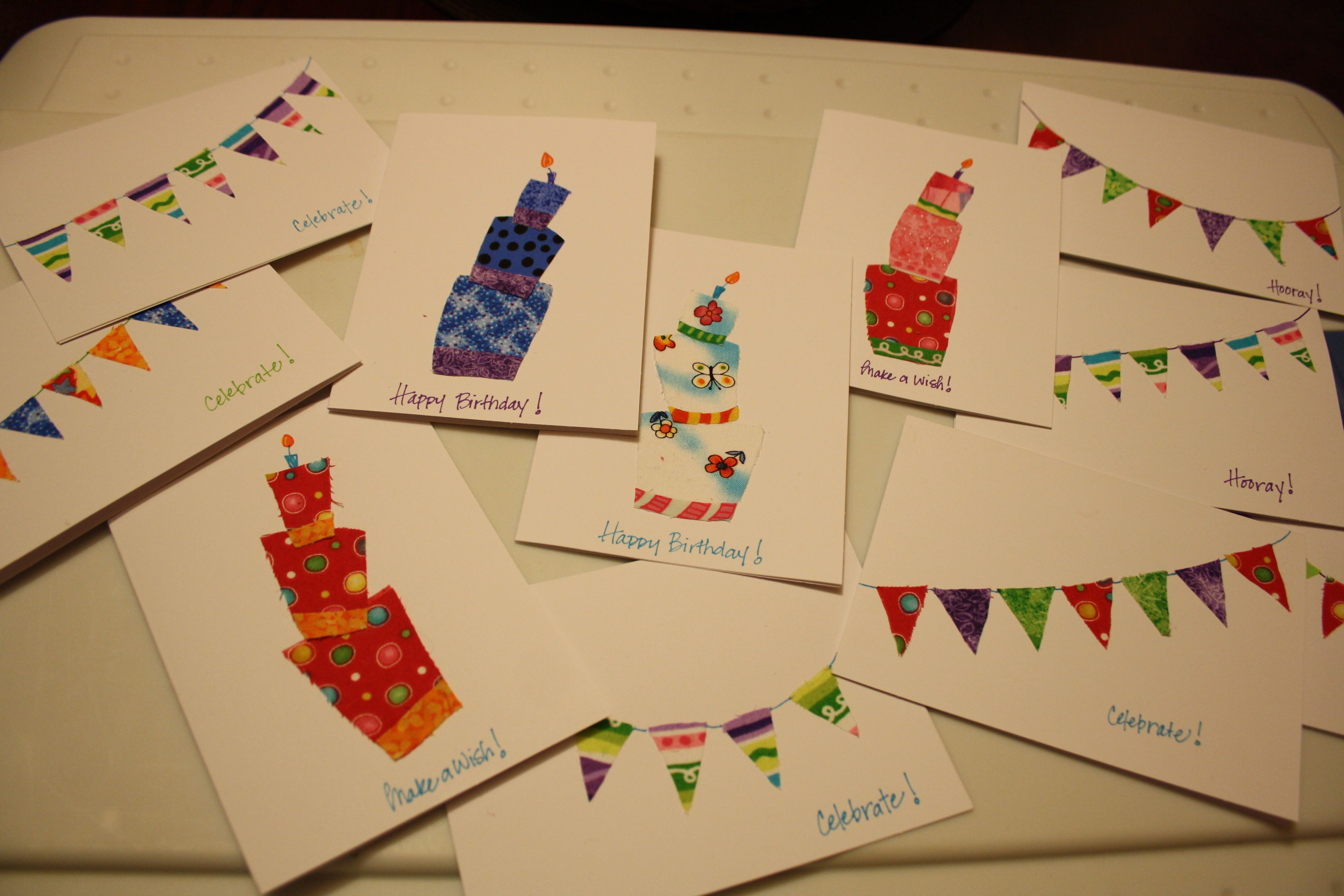 Homemade cards with wallpaper samples happy hooligans scrap and