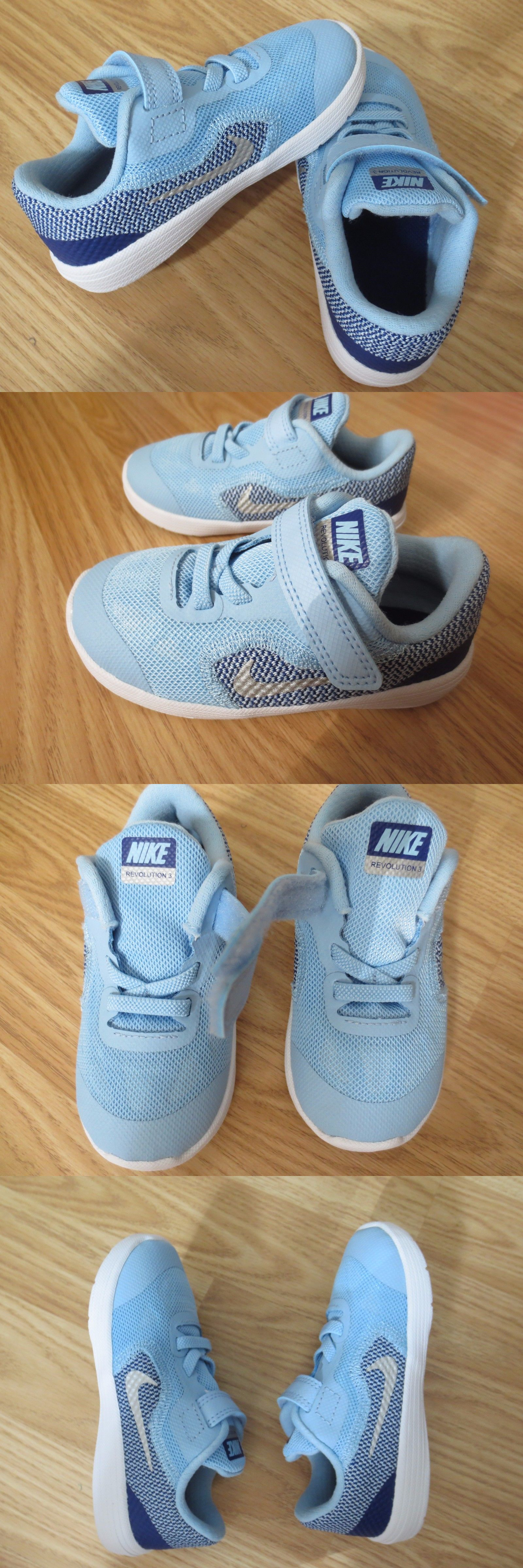 Baby Shoes Nike Revolution 3 Tdv Toddler Size 8C Baby Blue