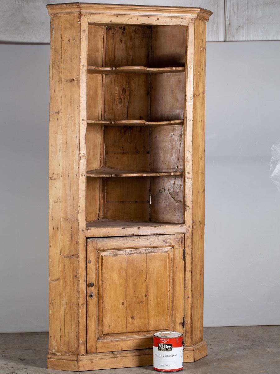 Antique English Unfinished Diy Pine Corner Cabinet Circa 1850 Corner Cabinet Antique Corner Cabinet Tall Cabinet Storage