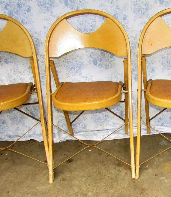 Incredible 6 Folding Bentwood Chairs Vintage 1950S Blond Solid Wood Dailytribune Chair Design For Home Dailytribuneorg
