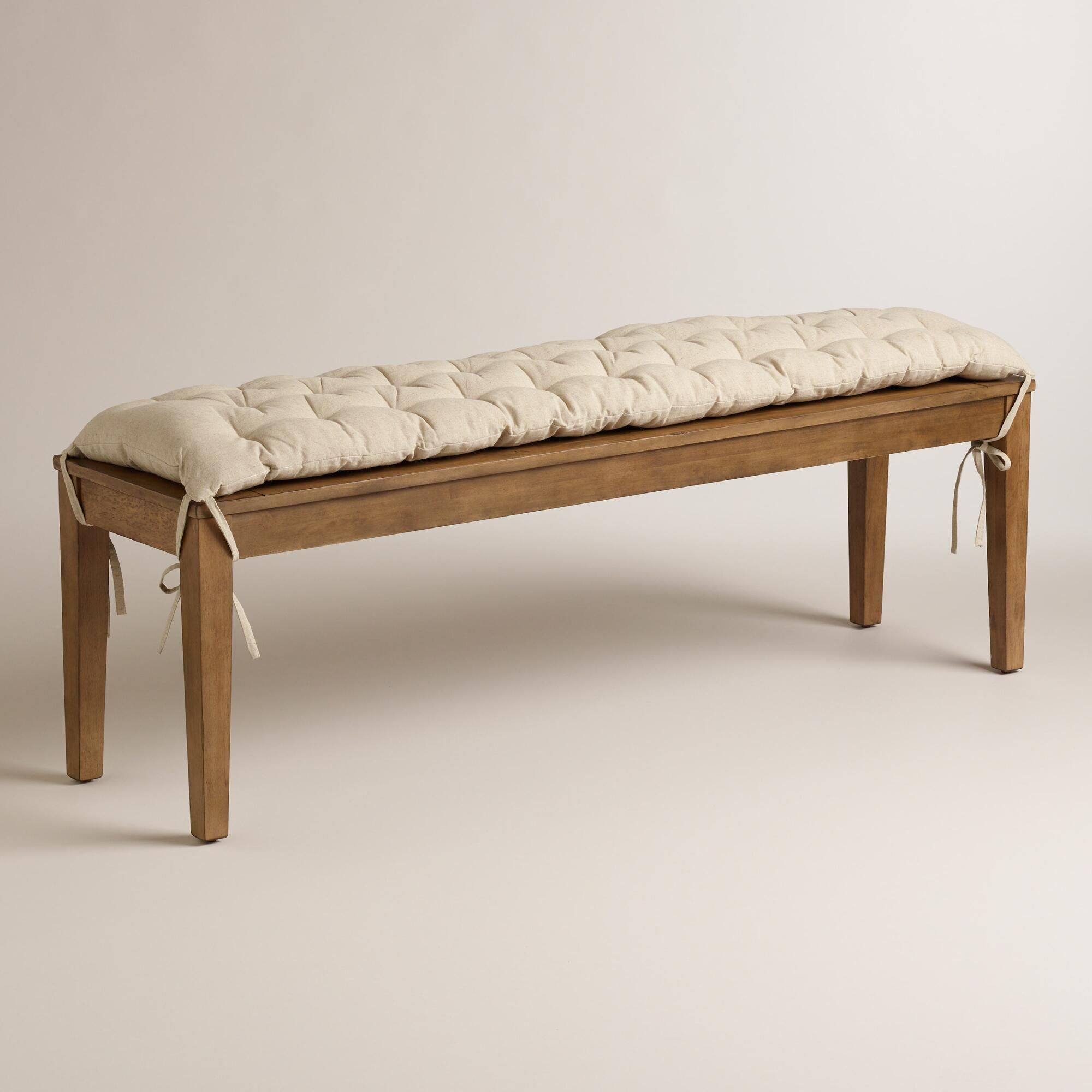 Superb We Crafted This Natural Toned Bench Pad For Our Harrow Machost Co Dining Chair Design Ideas Machostcouk