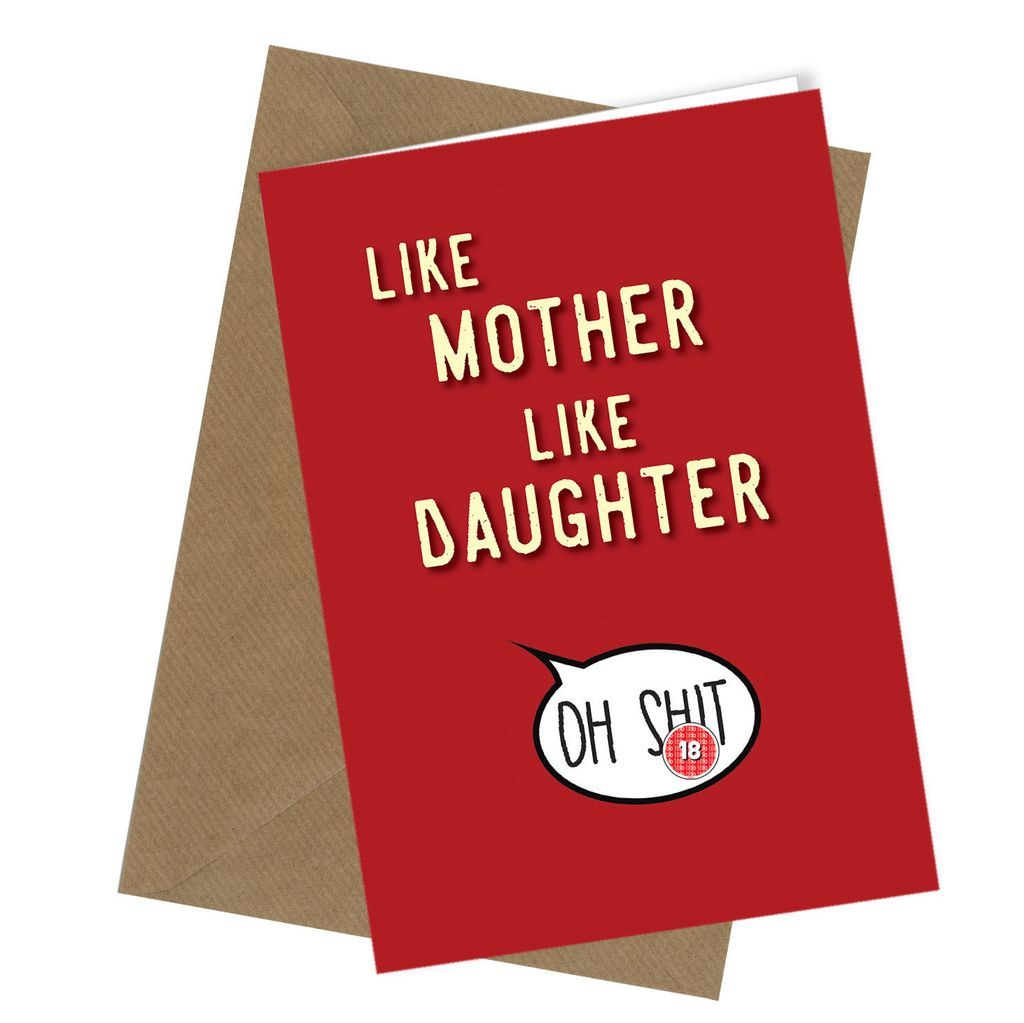 funny mothers day cards from daughter