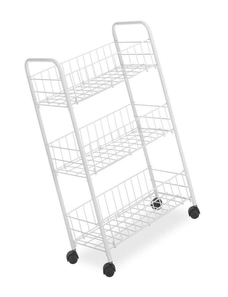 Whitmor 3 Tier Small Wire Rolling Cart 11 71end Date May 04 15