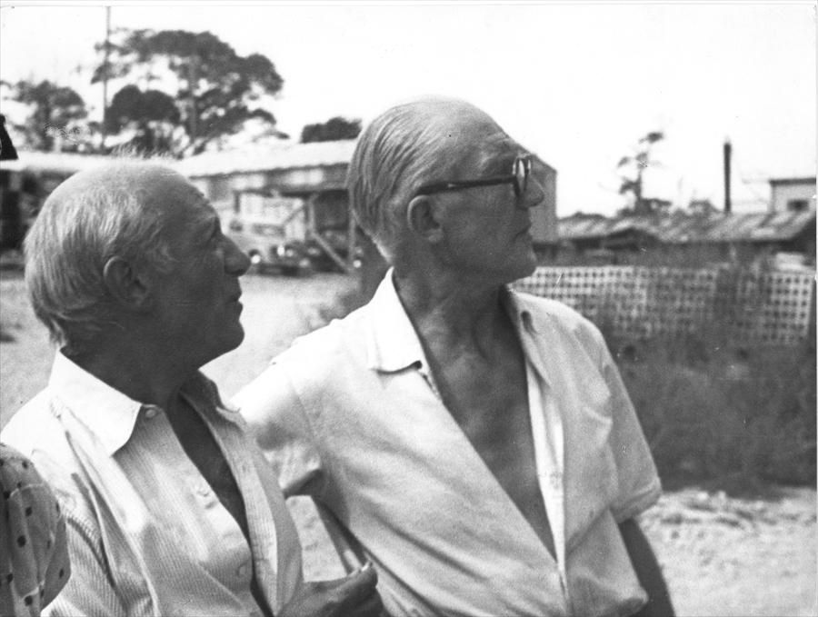 Picasso And Le Corbusier Portre Fotograf Sanatcilar