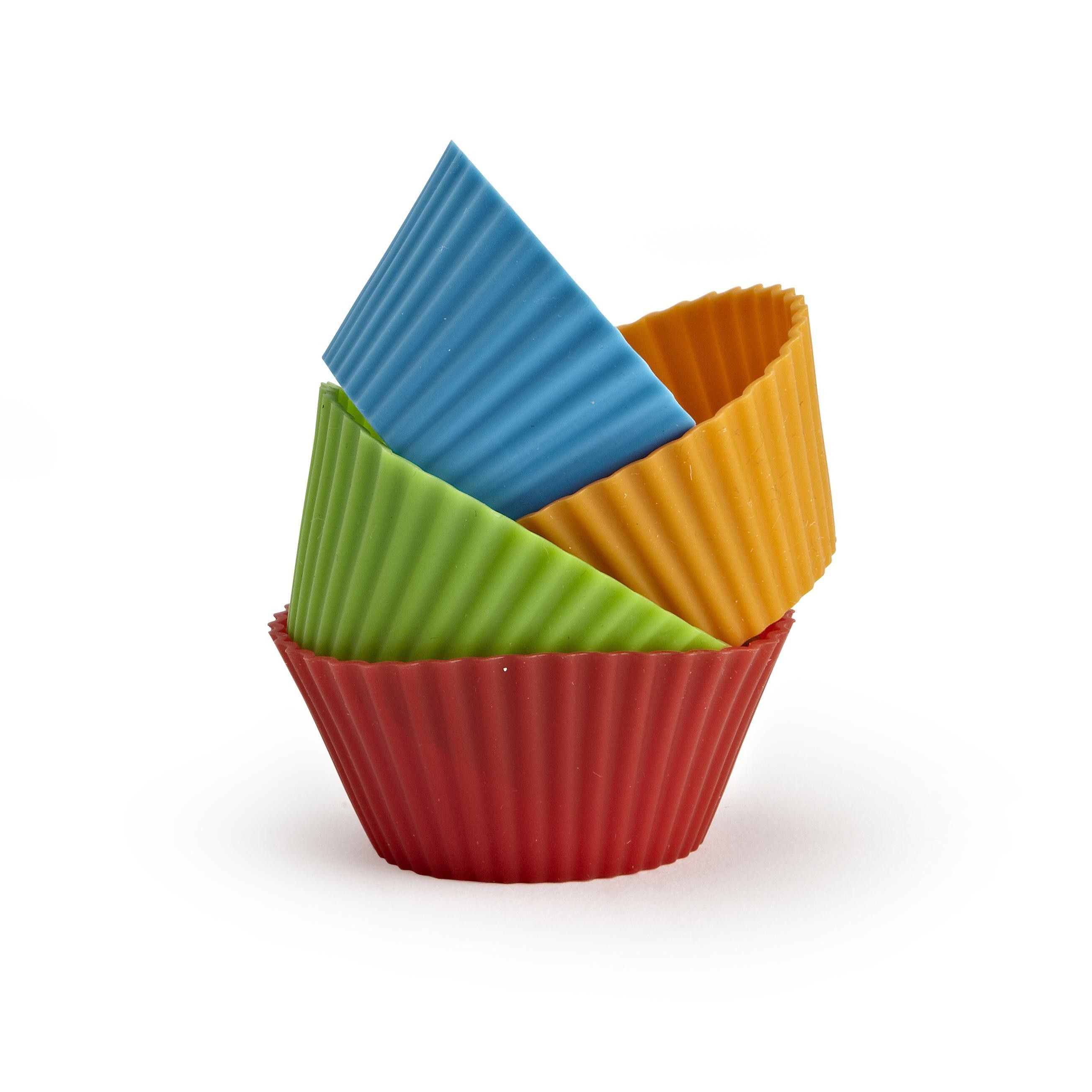 Ksp Colour Splash Silicone Cupcake Liners