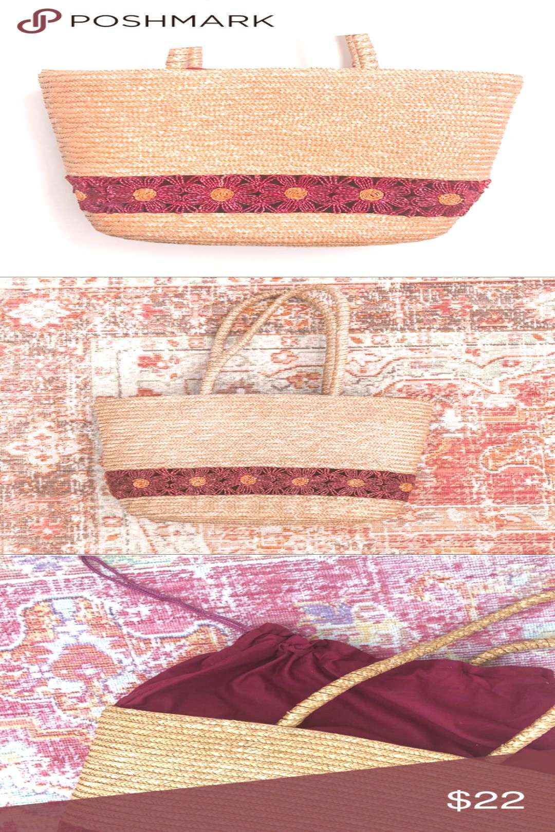 WOVEN WICKER FLORAL OVERSIZED TOTE BAG Pretty oversized woven wicker tote bag p WOVEN