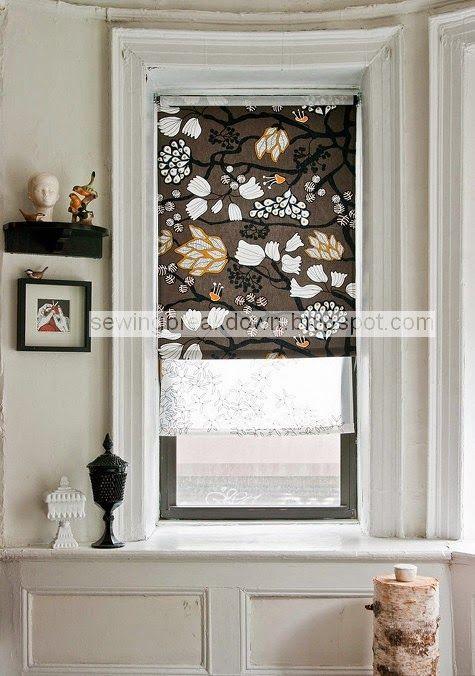Pasos de coser cortinas ventanas en detalle - y detalle de costura
