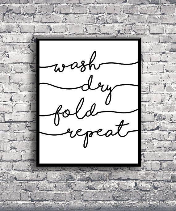 Wash dry fold repeat instant digital download print for Raumgestaltung lyrik