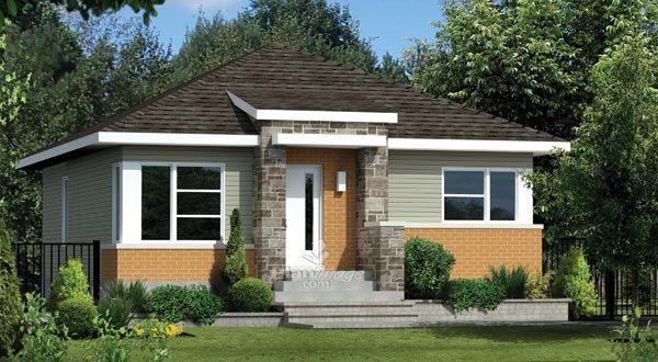 Planimage - La façade de cette maison de plain-pied se distingue par