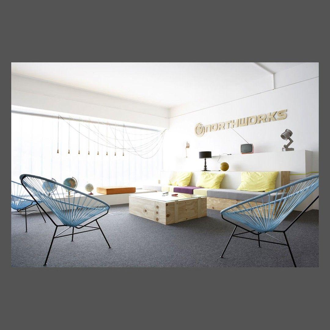 Project Studio Uwe Gaertner Lounge Northworks In Hamburg Lounge Overall View In Th Lounge Lighting Acapulco Chair Design