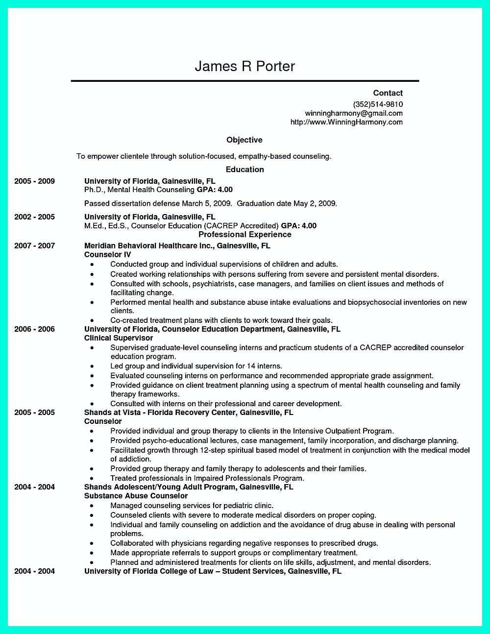 Camp Counselor Resume Writing Counseling Resume Must Be Rightly Performed To Show What